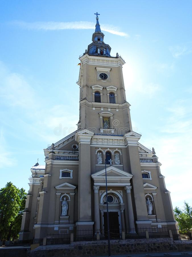 Old beautiful church . Lithuania royalty free stock images