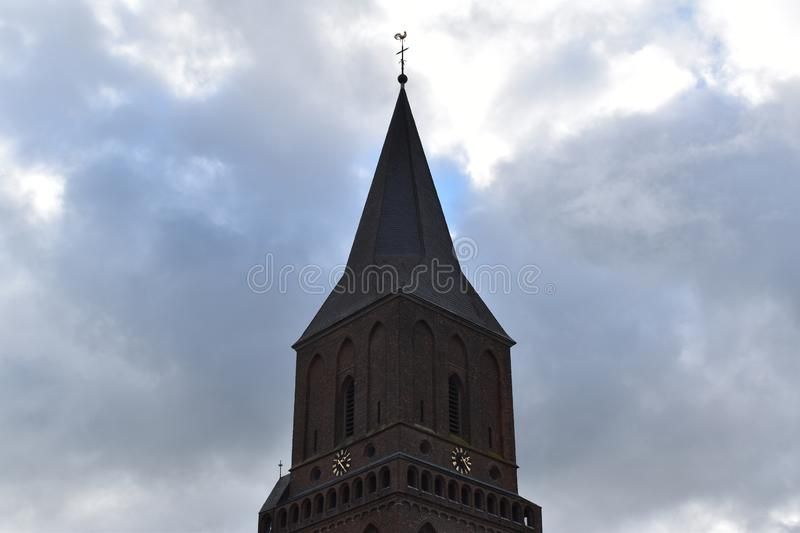 Old German church 2. A nice old German church in the village of Emmerich royalty free stock photo