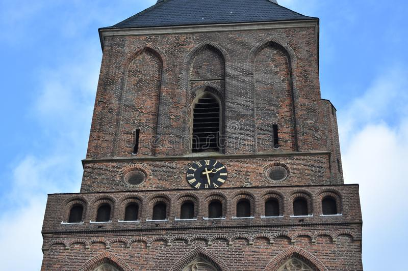 Old German church 8. A nice old German church in the village of Emmerich stock photo
