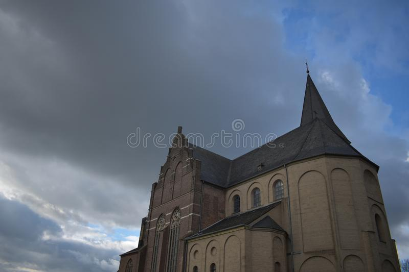 Old German church 20. A nice old German church in the village of Emmerich stock photos