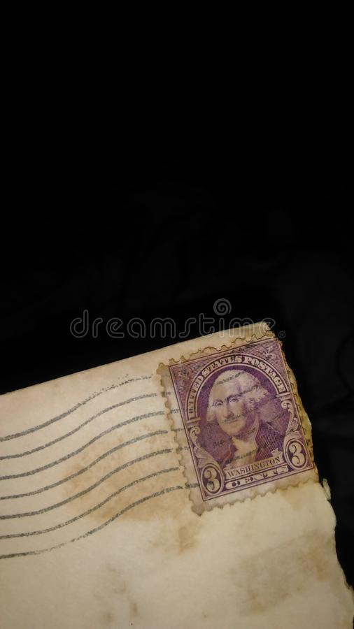 Nice old  real old 1917 usa postage stamp royalty free stock photography