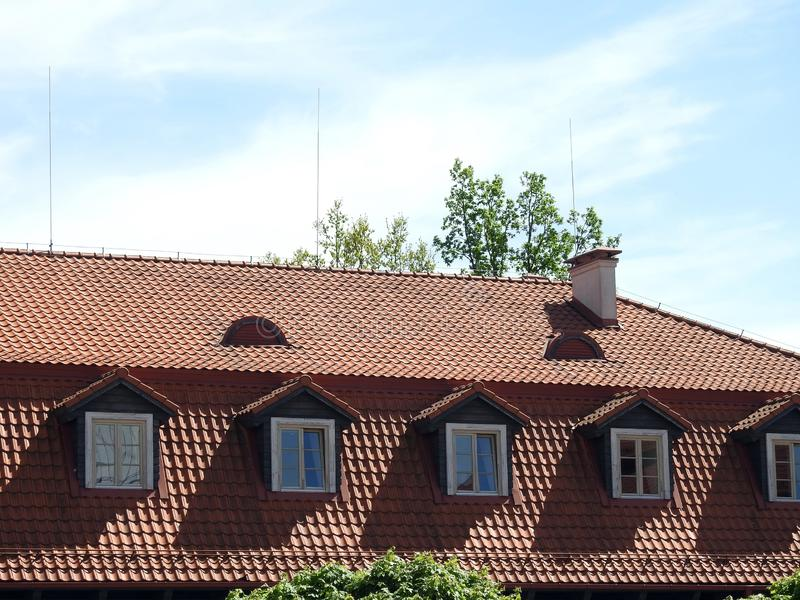 Beautiful home roof, Lithuania royalty free stock images