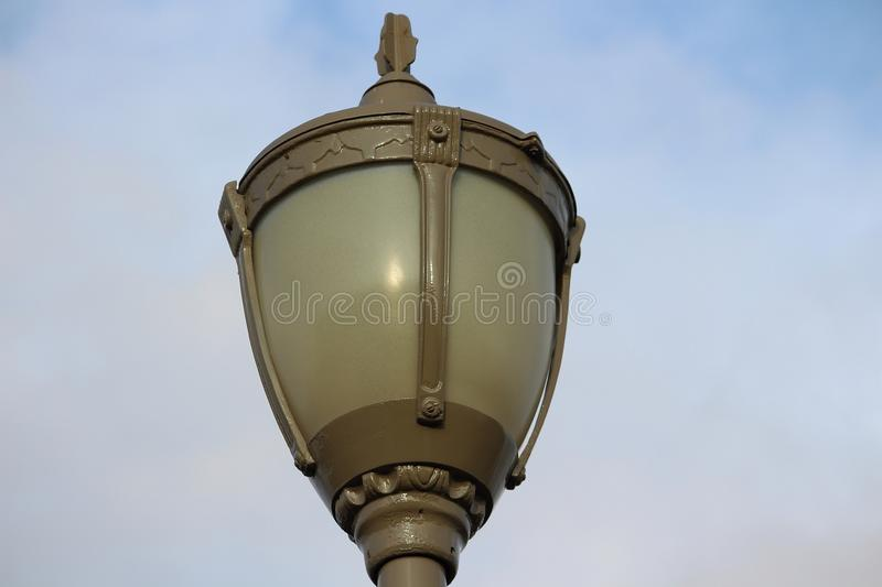 Nice old style lamp post royalty free stock photo