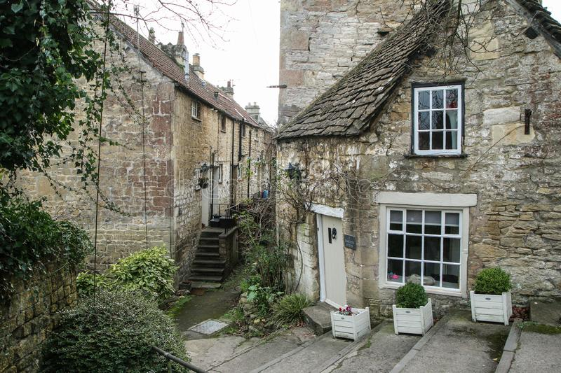 Nice old town Bradford on Avon in United Kingdom. A picture from the nice old town Bradford on Avon in United Kingdom. You can see the houses, streets, footpaths stock image