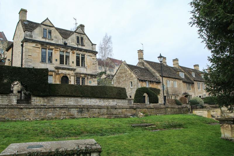 Nice old town Bradford on Avon in United Kingdom. A picture from the nice old town Bradford on Avon in United Kingdom. You can see the houses, streets, footpaths royalty free stock photos