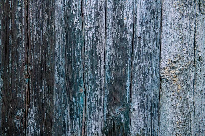 Nice old wooden wall with blue paint  texture abcstract. Color pattern royalty free stock images