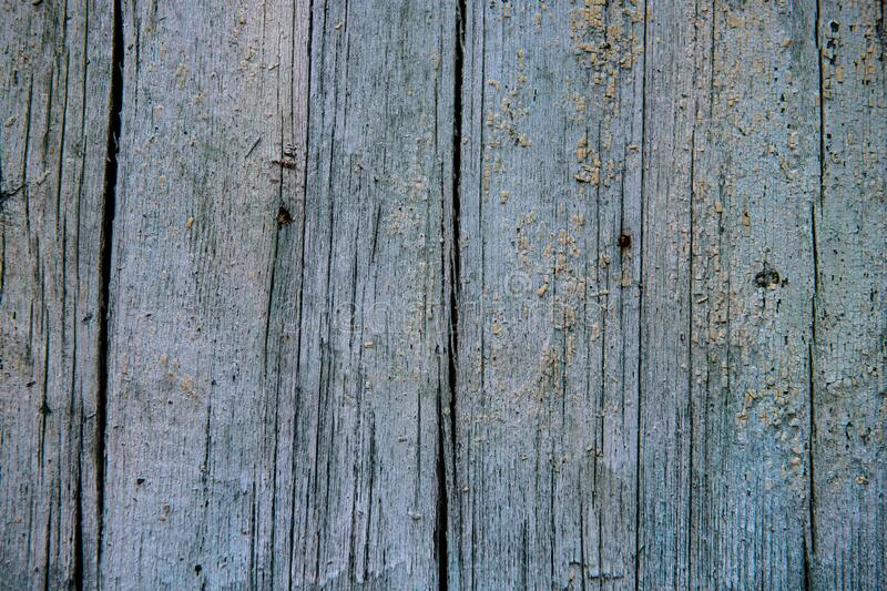 Nice old wooden wall with blue paint  texture abcstract. Color pattern stock photo