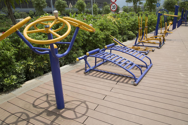 Nice outdoor gym royalty free stock photography