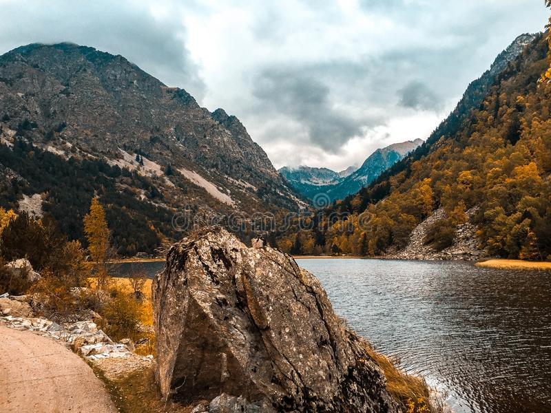 Landscape montain of Spain stock photography