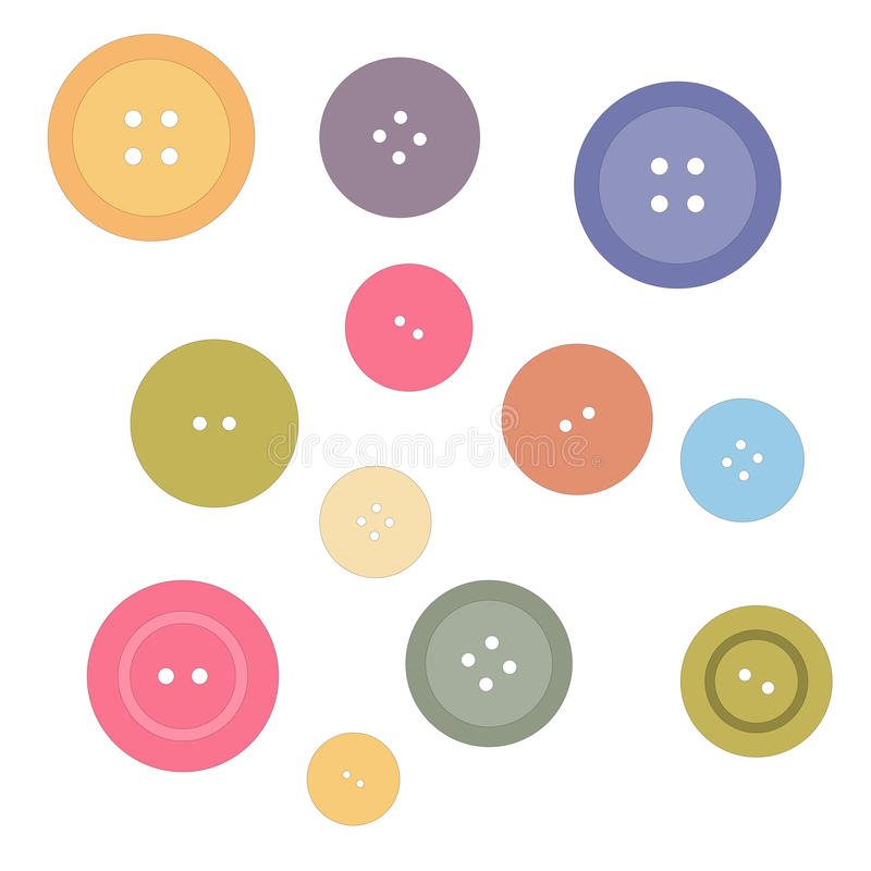 Nice picture with buttons painted in delicate colors. Background vector illustration