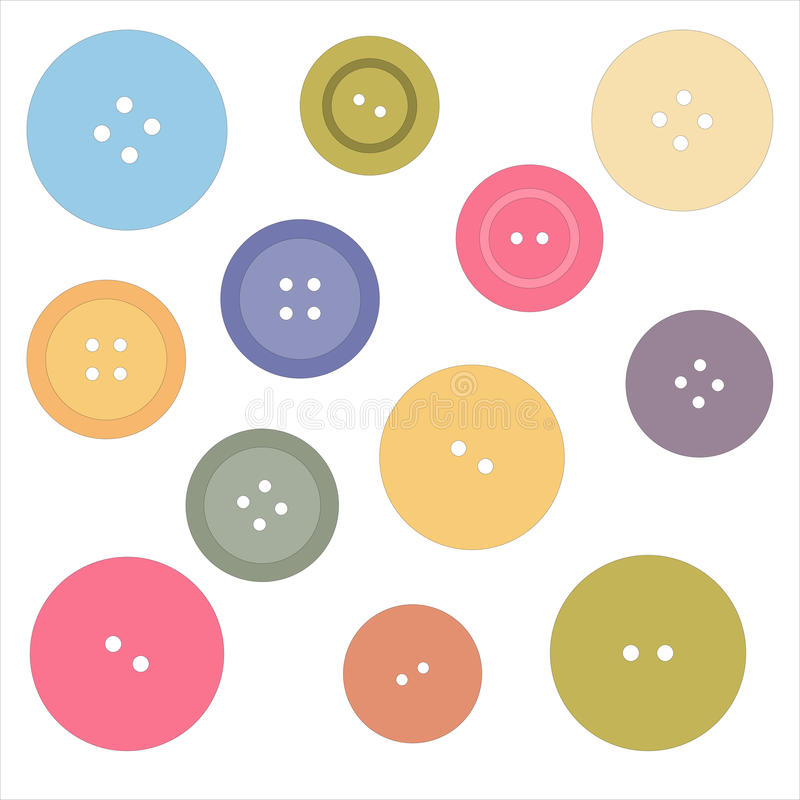 Nice picture with colored buttons. Vector vector illustration