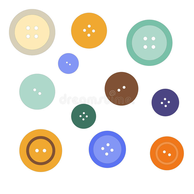Nice picture with colored buttons. Vector royalty free illustration