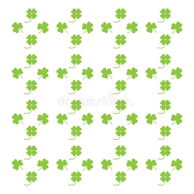 Nice picture from various pieces of clover located around. Vector. Nice picture from various pieces of clover located around royalty free illustration