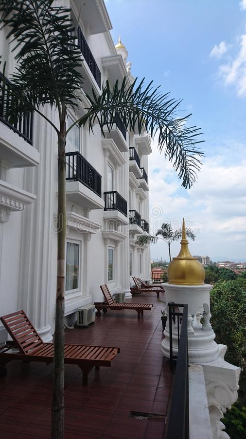Place to see the view of yogyakarta stock image