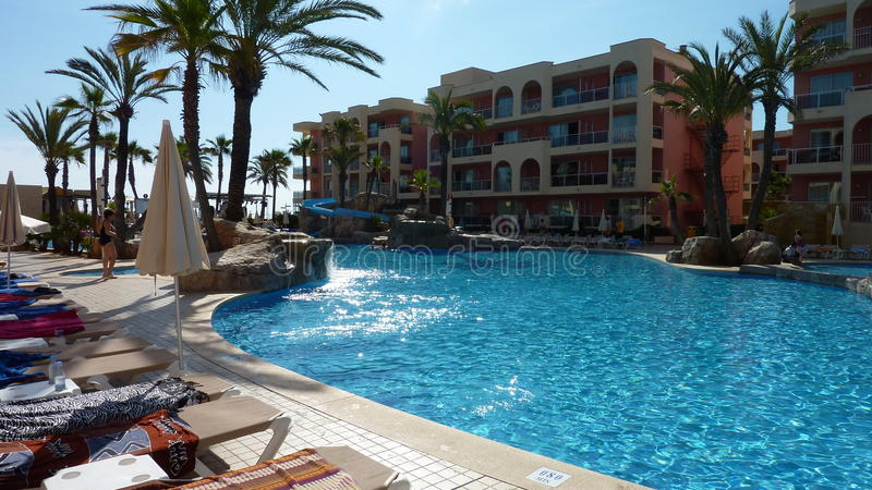 Nice pool shot. Shot of a hotel pool in Majorca stock photo
