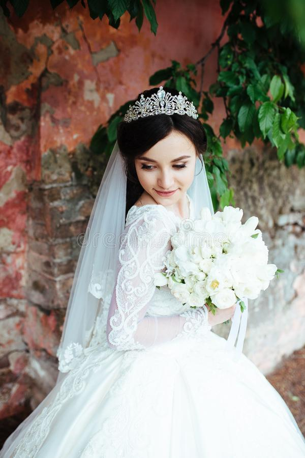 Nice portrait of a beautiful bride royalty free stock images