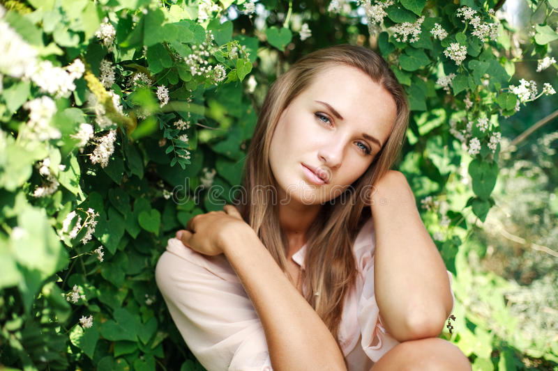 Nice Portrait Charming Young Woman Royalty Free Stock Photo