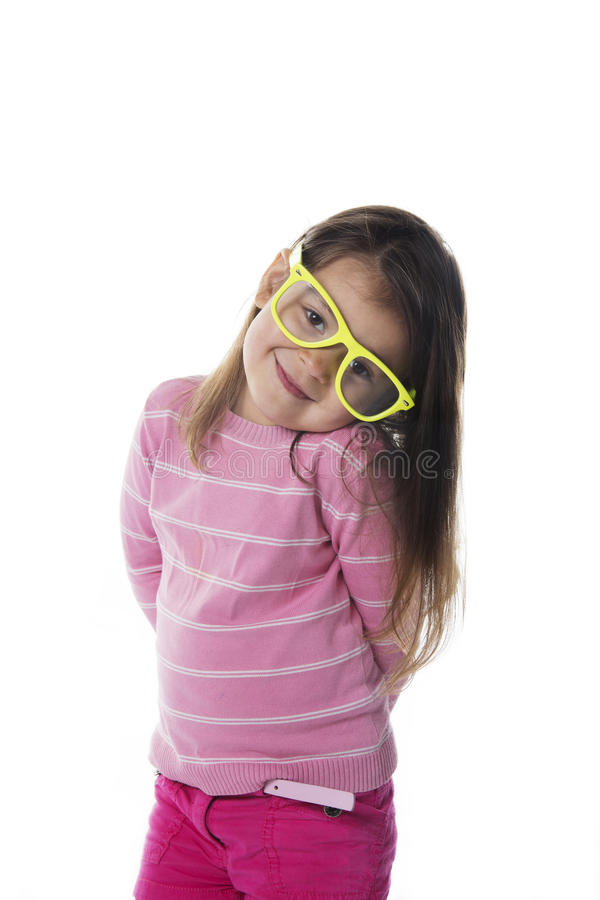 Download Nice Portrait Child With Glasses Stock Photo - Image: 30355044