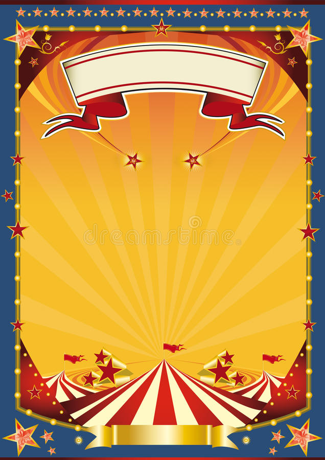 nice poster whith big top stock illustration illustration