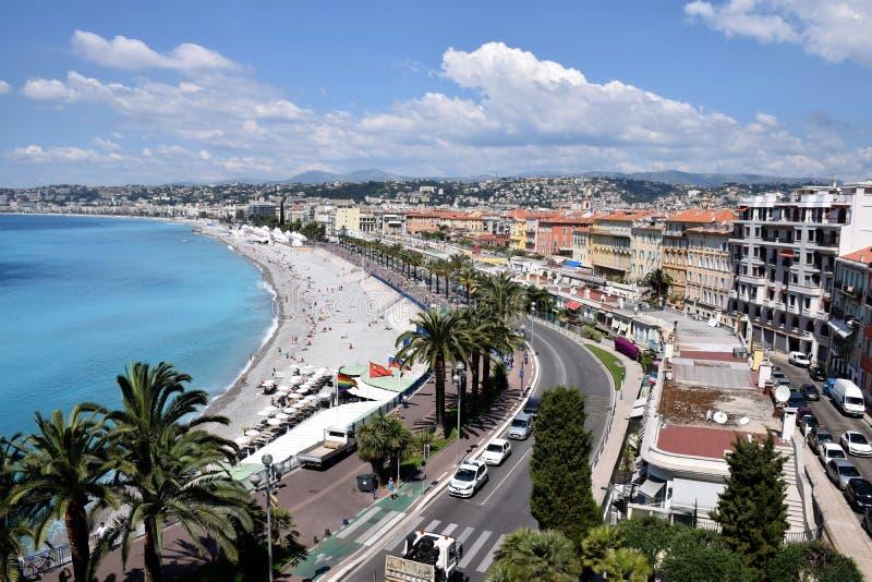 Nice - Promenade des Anglais stock afbeelding