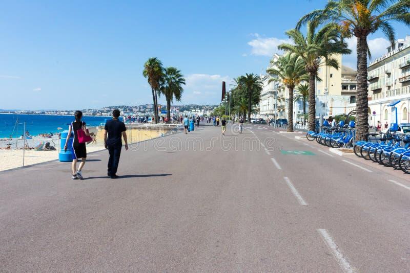Nice promenade royalty free stock photo