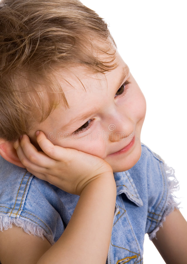 Nice quiet kid stock image