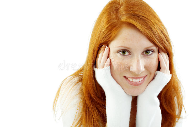 Download Nice redhead stock image. Image of freckles, pure, make - 11063683
