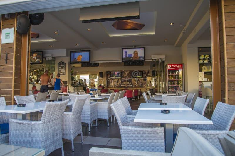 Nice restaurant and bar at ixia royalty free stock image