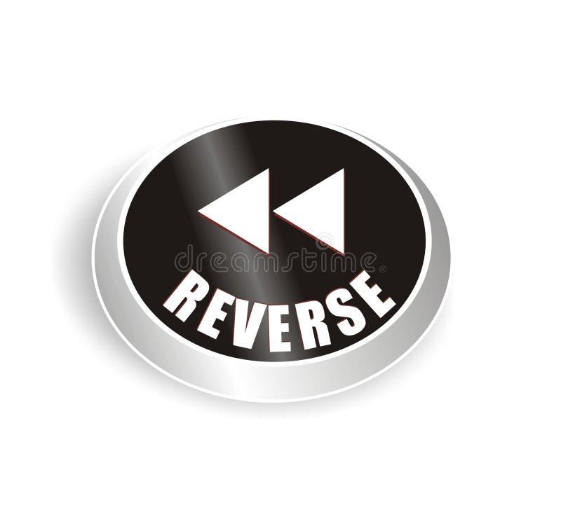 Nice reverse button royalty free illustration