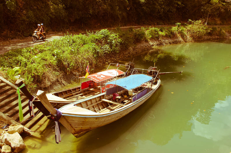 Nice river in Thailand royalty free stock photography