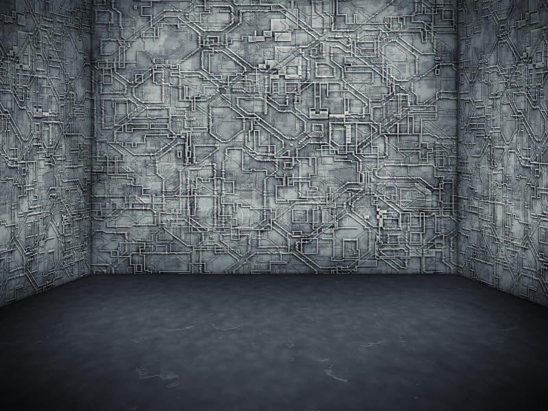 Download Nice room stock illustration. Illustration of brown, industrial - 18084178