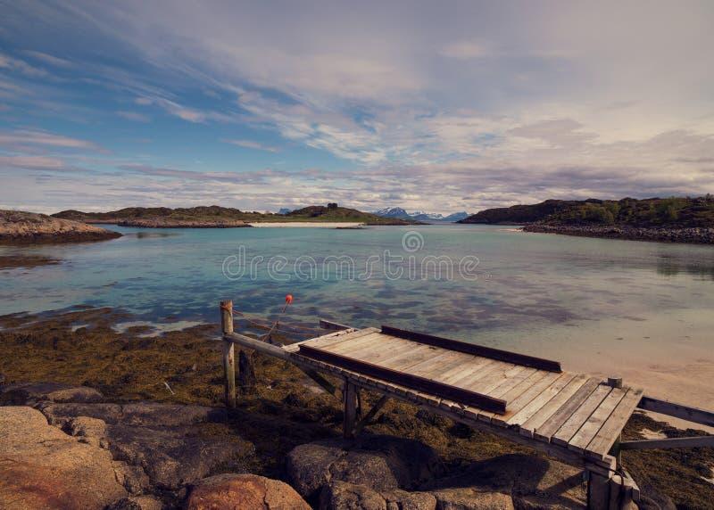 Lofoten by summer in Norway stock image