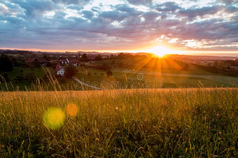 A nice scenic evening view stock photos