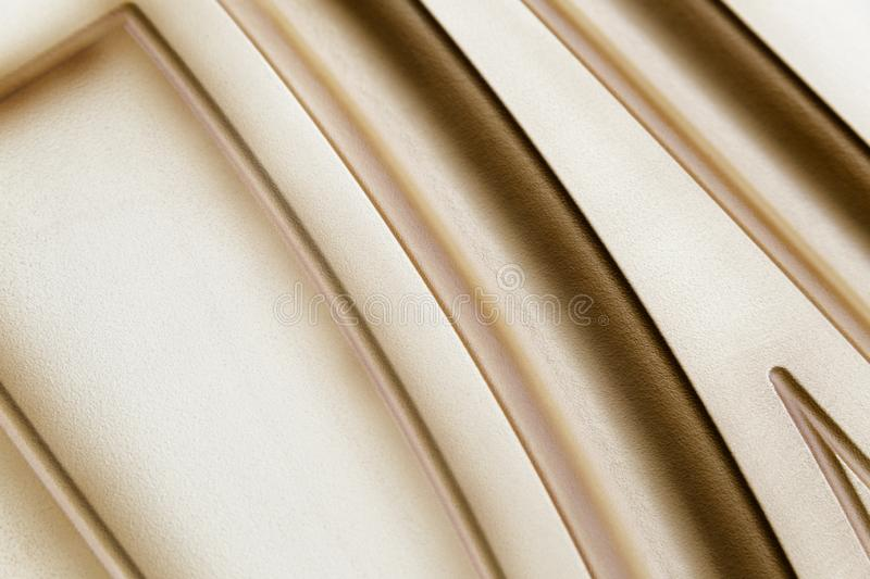 Nice-shaped furniture facade. Wood, laminate and painted royalty free stock photos