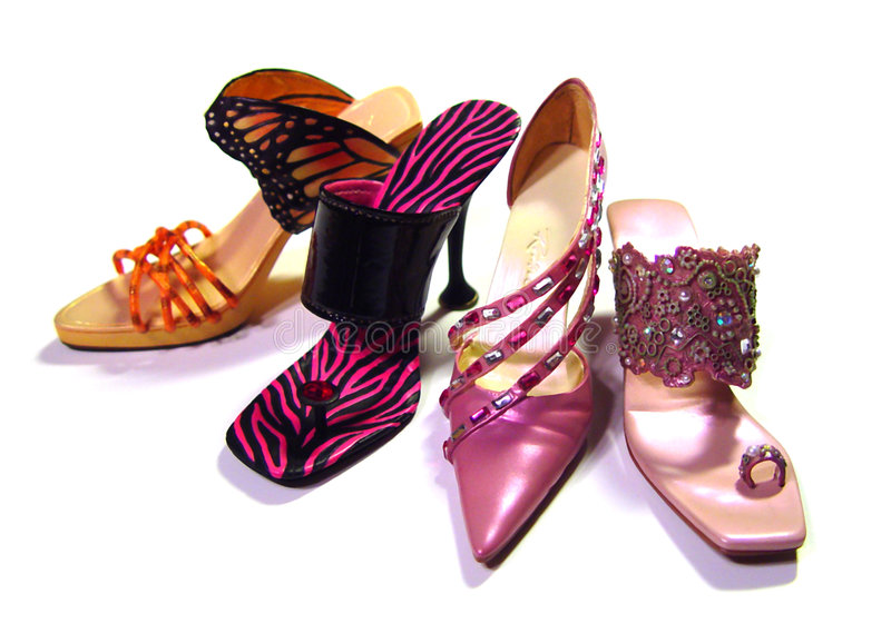 Download Nice Shoes stock image. Image of pink, womens, heeled, zebra - 70221