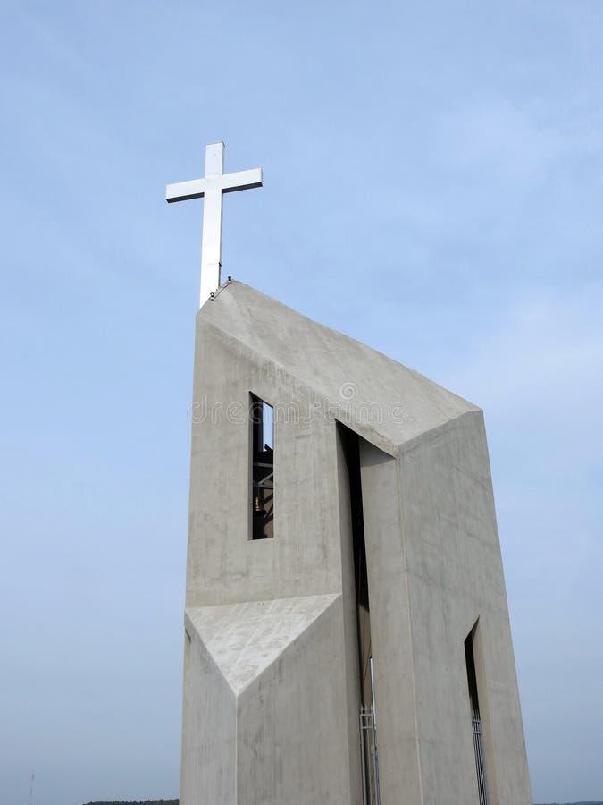Beautiful cross on hill, Lithuania stock image