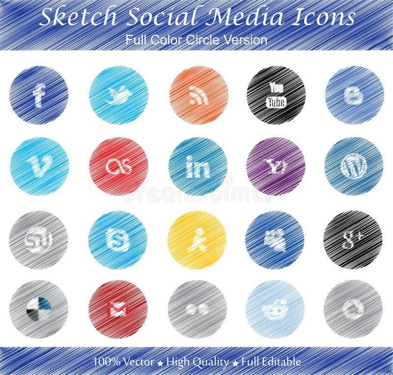 Download Sketch Social Media Badges - Full Color Circle Ver Editorial Photography - Image: 29820132