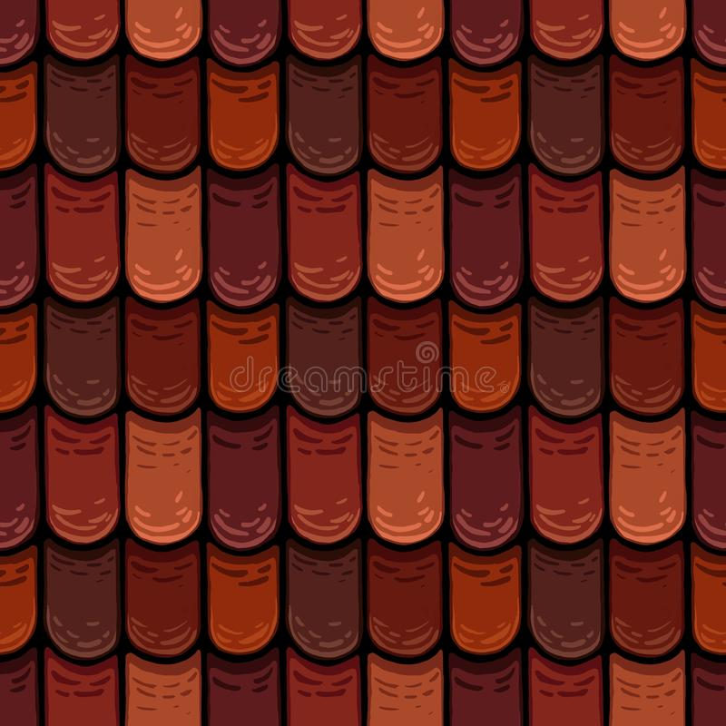 Raster seamless texture of the roof cover tiles stock photo