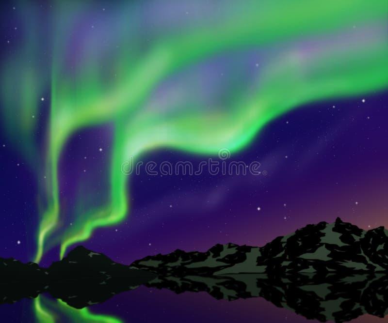 Download Nice sky stock illustration. Image of magnetosphere, northern - 29026610