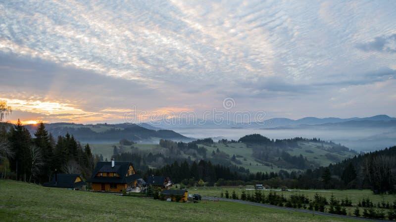 Nice Slovakian Landscape Photo. From Orava stock photography