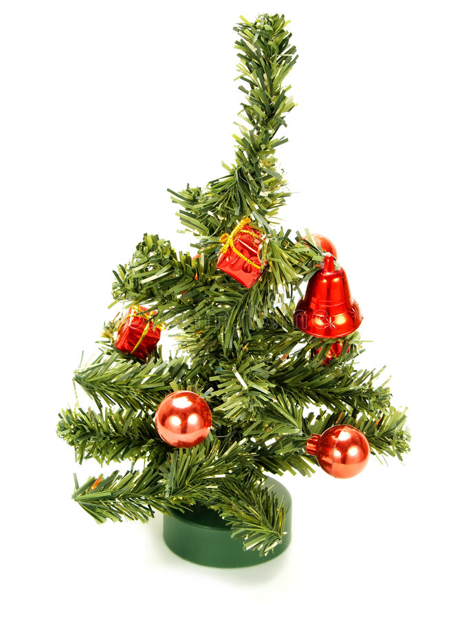 Download Nice Small Christmas Tree With Red Decoration Stock Photo   Image  Of Festive, Bell