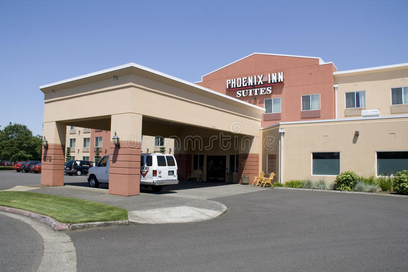 Nice small hotel inn stock images