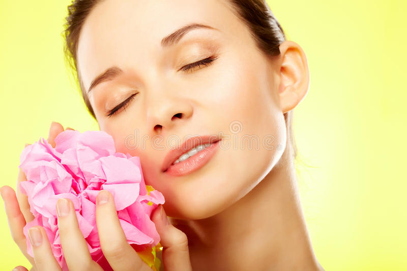 Download Nice smell stock photo. Image of facial, glamor, caucasian - 20880552