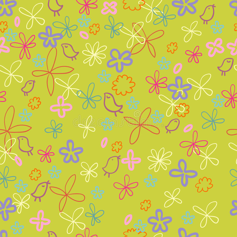 Nice Spring Floral Pattern Royalty Free Stock Photography