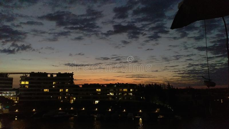 Sunset in Tigre royalty free stock images