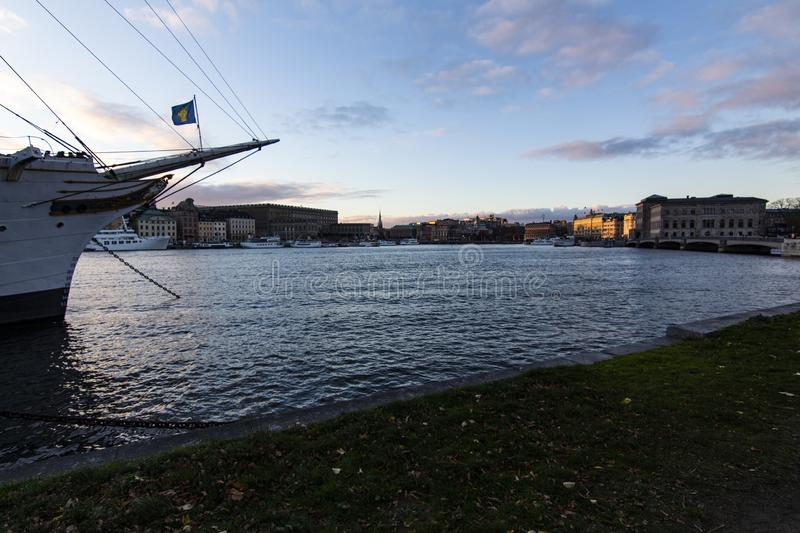 Nice evening in Stockholm royalty free stock photo