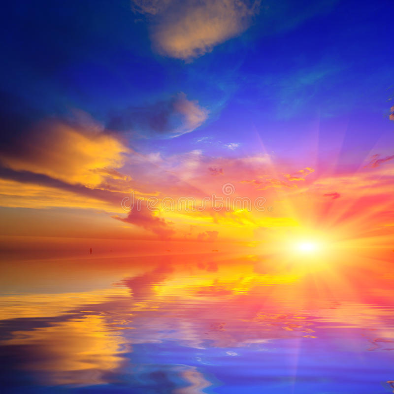 Download Nice Sunshine Over Water Stock Photo - Image: 42172148