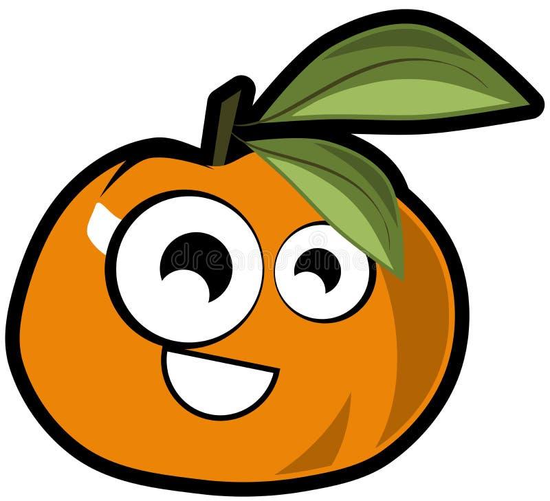 Nice Tangerine cartoon isolated stock illustration