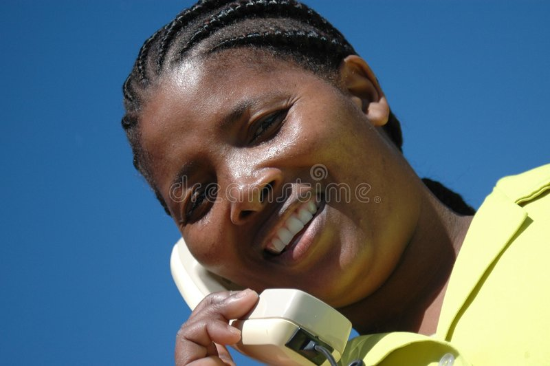 Xhosa Woman With Telephone Stock Photos