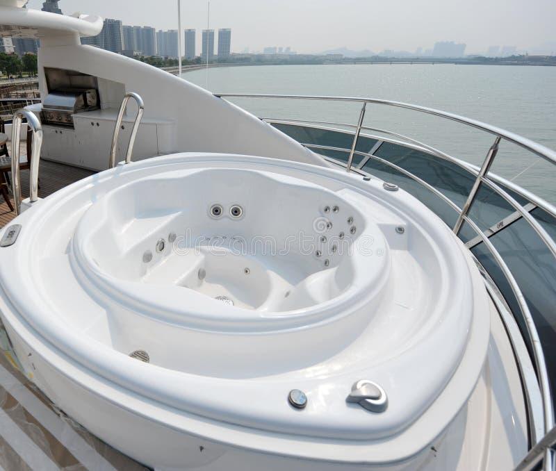 Nice tub on a yacht royalty free stock photos